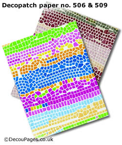 Mosaic style decopatch paper